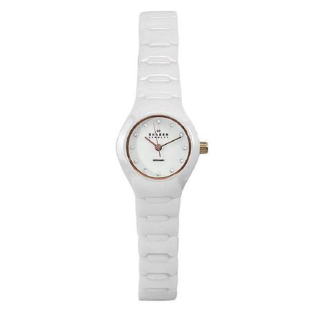 SKAGEN-816XSWXRC1-Slimline-CERAMIC-Damen-Armbanduhr-NEU